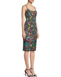 BCBGMAXAZRIA - Embroidered Bustier Dress - Lyst
