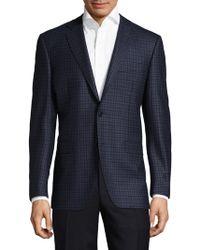 Canali - Patterned Wool Sportcoat - Lyst
