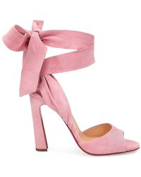 Christian Louboutin Rose Amelie Ankle-tie Suede Sandals - Pink
