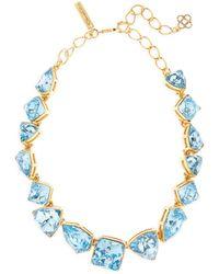 Oscar de la Renta - Gallery-set Swarovski Crystal Necklace - Lyst
