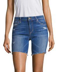 Joe's - Finn Bermuda Distressed Denim Shorts - Lyst