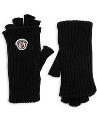 Moncler - Guanti Wool & Cashmere Fingerless Gloves - Lyst