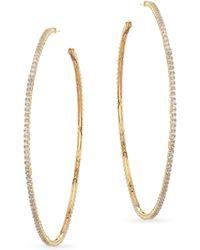 Fallon - Armure Pave Hoop Earrings - Lyst