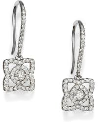 De Beers - Enchanted Lotus Diamond & 18k White Gold Drop Earrings - Lyst