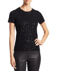 Saks Fifth Avenue - Collection Sequin Cashmere T-shirt - Lyst