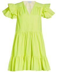 Tanya Taylor Marisol Ruffle-sleeve Dress - Yellow