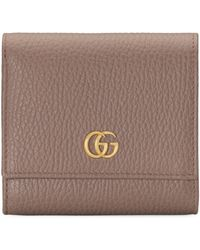 Gucci - GG Marmont Leather Wallet - Lyst