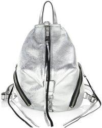 Rebecca Minkoff - Julian Metallic Mini Backpack - Lyst