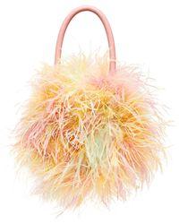 Loeffler Randall Zadie Feather Top Handle Bag - Multicolor