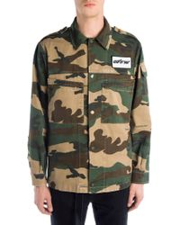 Off-White c/o Virgil Abloh - Camouflage Military Shirt - Lyst