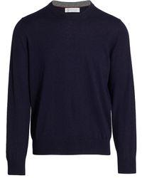 Brunello Cucinelli Cashmere Crewneck Sweater - Blue