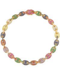 Fallon - Toscano Multicolor Crystal Pavé Link Necklace - Lyst
