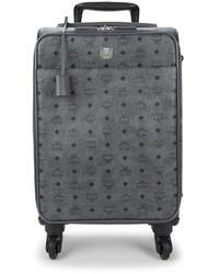 MCM Small Victory Visetos Trolley Suitcase - Gray