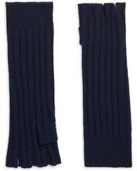 Saks Fifth Avenue Collection Cashmere Fingerless Gloves - Blue