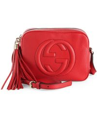 Gucci Soho Leather Disco Bag, Tobasco Red - Metallic