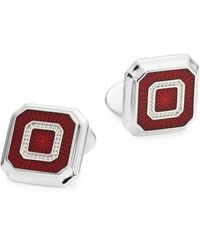 David Donahue Sterling Silver Square Cufflinks - Metallic