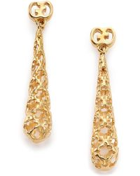 Gucci - Diamantissima 18k Yellow Gold Teardrop Earrings - Lyst