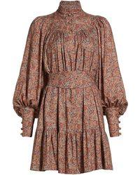 Anna Mason Kasia Belted Mini Dress - Brown