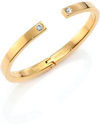 Vita Fede - After Dark Divisio Crystal Solitaire Cuff Bracelet - Lyst