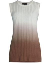 Saks Fifth Avenue Collection Dip-dye Sleeveless Shell Top - Multicolor
