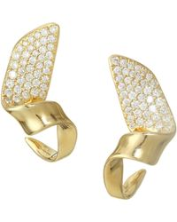 Ippolita - Stardust 18k Yellow Gold Small Twisted Pave Ribbon Earrings - Lyst