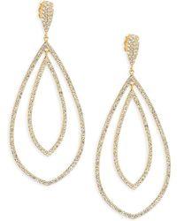 Adriana Orsini - 18k Yellow Gold Double Drop Earrings - Lyst