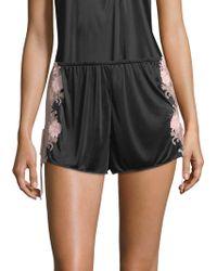 Natori - Harlow Lace-trim Sleepwear Shorts - Lyst