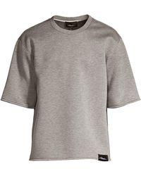 3.1 Phillip Lim Short Sleeve Sweatshirt - Gray