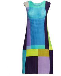 Issey Miyake - Transfer Pleats Shift Dress - Lyst