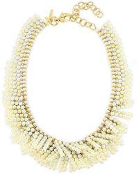 Lele Sadoughi Shaggy Collar Necklace - Metallic