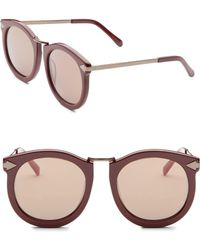 Karen Walker Super Luna 53mm Round Sunglasses - Brown
