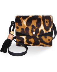 Elizabeth and James Eloise Fur Leather Crossbody Bag - Multicolour