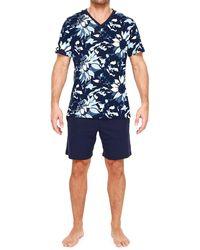 Hom Vincent 2-piece T-shirt & Shorts Pajama Set - Blue