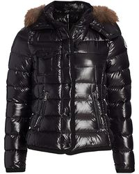 Moncler Armoise Laque Fox Fur-trim Puffer Jacket - Black