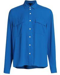 ATM Crepe Georgette Shirt - Blue