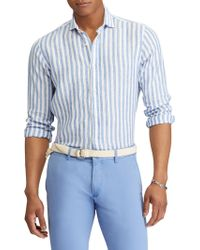Polo Ralph Lauren - Stripe Linen Button-down - Lyst