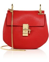 Chloé - Small Drew Leather Saddle Bag - Lyst