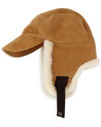 b387353073129 UGG - Men s Shearling-trim Baseball Trapper Hat - Chestnut - Lyst