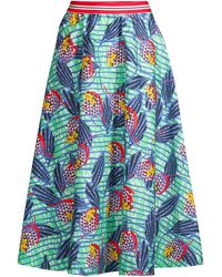 Stella Jean Floral Midi Skirt - Green