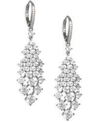 Adriana Orsini - Leia Swarovski Crystal Silvertone Drop Earrings - Lyst