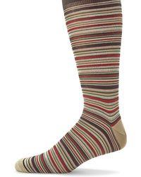 Saks Fifth Avenue | Multicolored Striped Socks | Lyst