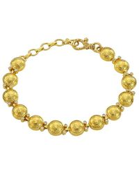 Gurhan Amulet Diamond, 22k & 24k Yellow Gold Beaded Bracelet - Metallic