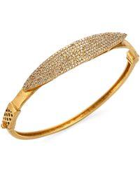 Bavna | 18k Gold & Diamond Pavé Bangle | Lyst