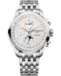 Baume & Mercier - Clifton 10279 Chronograph & Complete Calendar Steel Bracelet Watch - Lyst