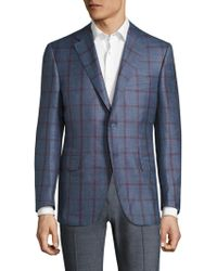 Canali - Checked Wool Jacket - Lyst