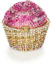 Judith Leiber - Crystal Cupcake Pillbox - Lyst