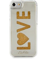 Lyst - Edie Parker Floating Happy Star Glitter Phone Case b952447f3