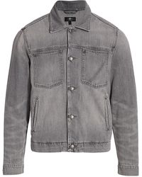 7 For All Mankind Patch Pocket Trucker Jacket - Gray