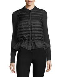 Moncler | Maglione Knit Peplum Jacket | Lyst