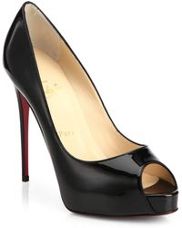 detailed look 75e9c 99b07 New Very Prive 120 Patent Leather Peep Toe Court Shoes - Black